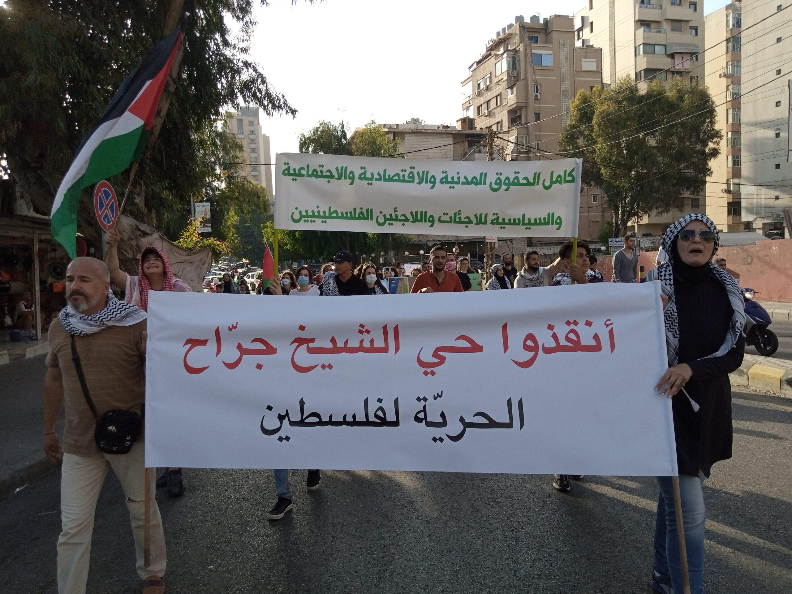 لبنان يتضامن مع فلسطين في شتّى الميادين