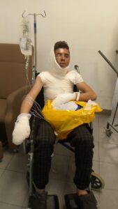 بدر خلال علاجه في المستشفى