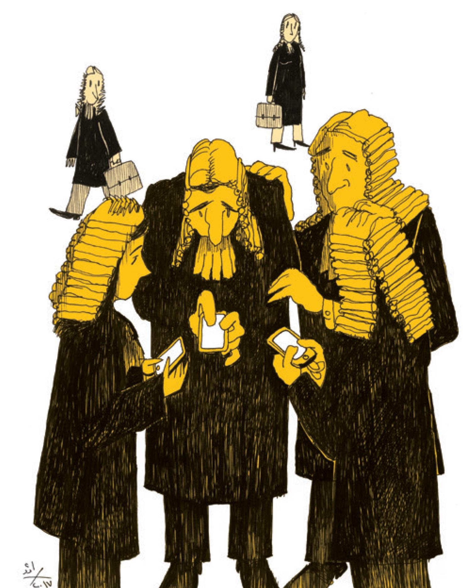 قضاة الواتساب، هذه الوقفة الجميلة