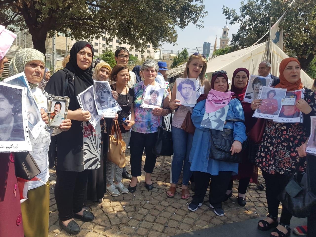لجنة أهالي المفقودين أحيت يومهم العالمي: لازم يخلص الحكي ويبلش الشغل