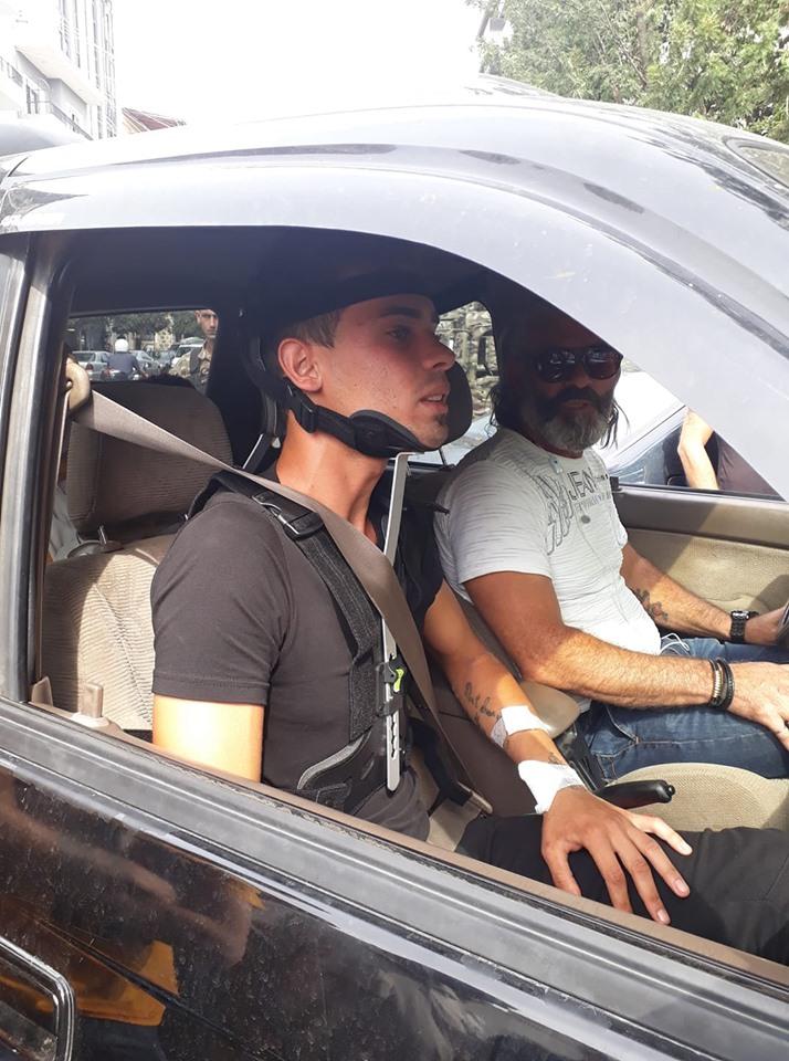 النبطية في يومها العاشر: هادي جريح القمع يعود من المستشفى إلى الساحة
