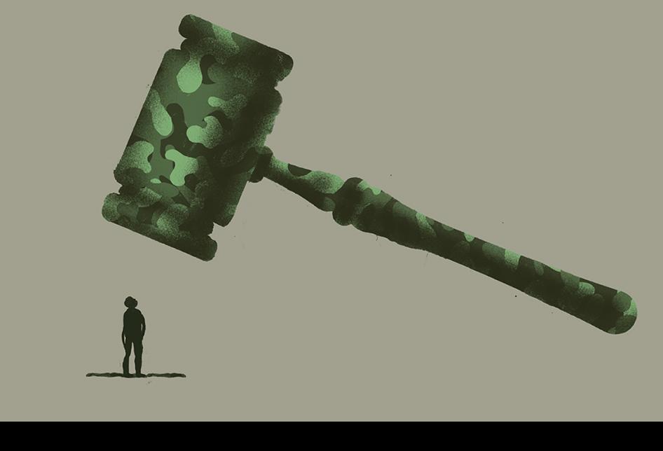 """""""هذا ليس مكاننا: محاكمة المدنيين في المحاكم العسكرية في لبنان"""""""
